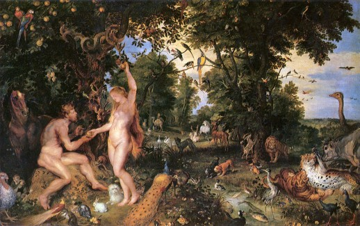 Image of Adam and Eve in Worthy Paradise by Rubens and Jan Brueghel the Elder