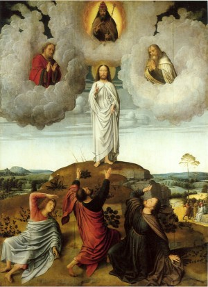 Image of a painting of the Apotheosis of Christ by Gerald David