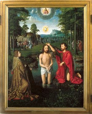 Image of the Baptism of Christ by Gerard David
