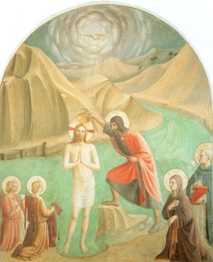 The Baptism of Christ by Fra Angelico