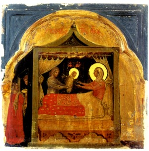 Image of the Birth of the Virgin by Paolo Veneziano