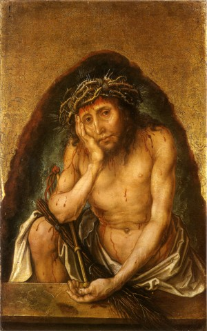 Image of Christ as the Man of Sorrow by Albrecht Durer
