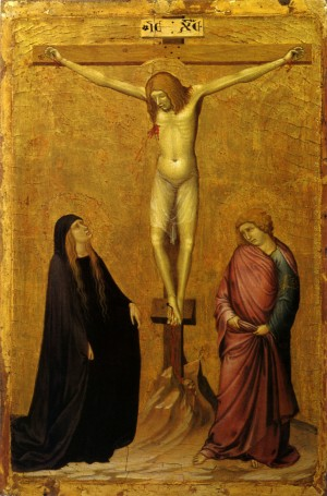 Image of The Crucifixion with Saints by Ambrogio Lorenzetti