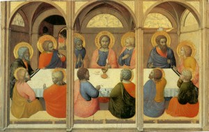 Image of the Institution of the Eucharist by Sassetta
