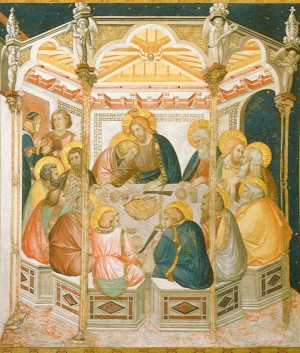 An image of Assisi Frescoes: Last Supper by Pietro Lorenzetti