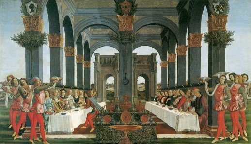 Image of Story of Nastagio degli Onesti: Marriage Feast by Sandro Botticelli