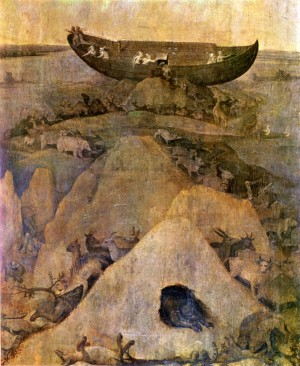 Image of Ark of Noah on Mount Ararat attributed to Hieronymus Bosch
