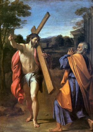 Painting of Christ Appearing to Saint Peter on the Appian Way by Annibale Carracci