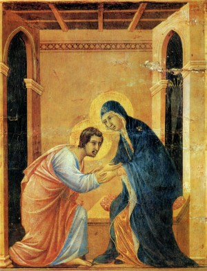 Image of Parting from Saint John by Duccio di Buoninsegna