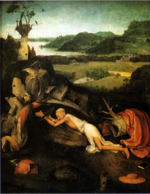 Saint Jerome in Prayer by Hieronymus Bosch by Stefano di Sant`Agnese