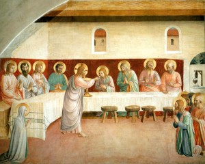 Image of the Institution of the Eucharist by Fra Angelico
