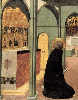 Image of Saint Thomas Aquinas in Prayer by Sassetta