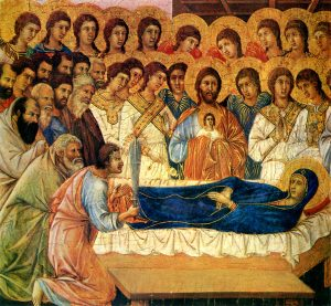 Image of the Death of the Virgin by Duccio di Buoninsegna
