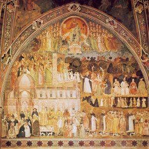 Une image du Triomphe de l'Eglise par Andrea di Bonaiuto da Firenze